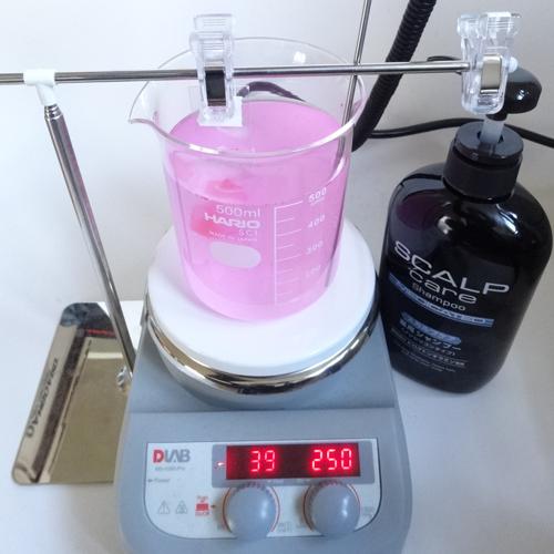 熊野油脂 スカルプケアシャンプー 洗浄力 試験