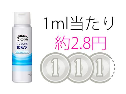 メンズビオレ 化粧水 コスパ