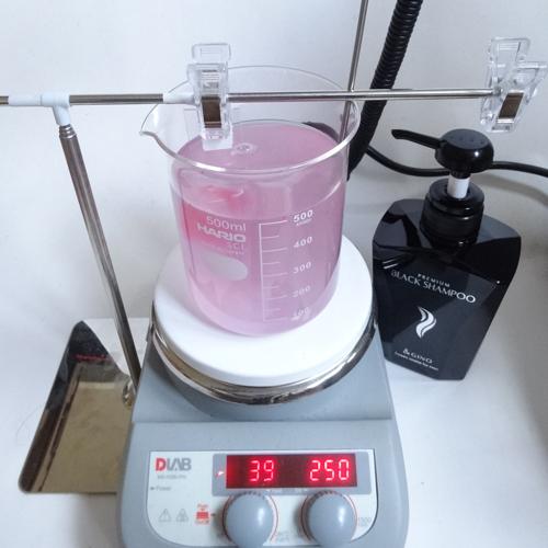 プレミアムブラックシャンプー 洗浄力試験